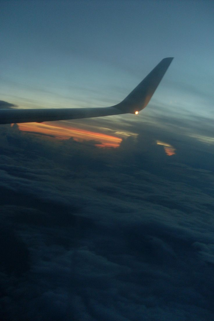 Returning to Miami, a bittersweet and tearful return home. But the sunset from the plane was beautiful.
