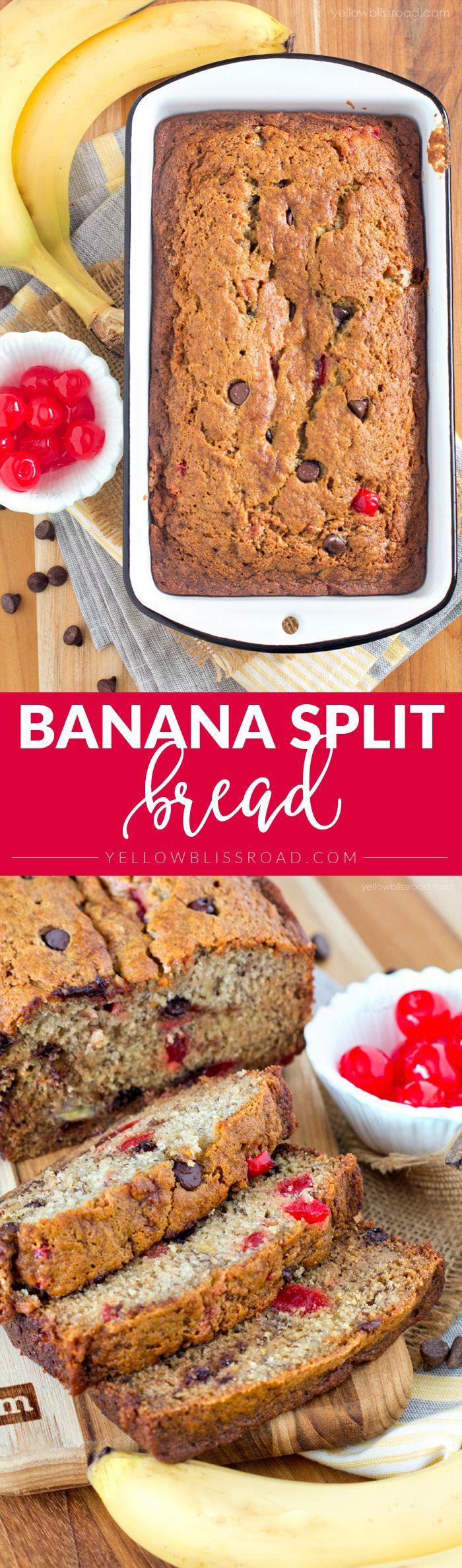 Smooshy Mushy Banana Split : Check out Banana Split Bread. It s so easy to make! Chocolate cherry, Cherries and Breads