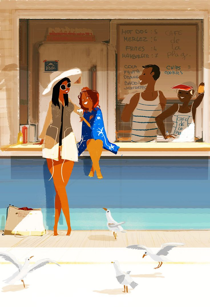Snack bar de la plage.  #pascalcampion #pascalcampionart #beach    Memorial Day Weekend Sale is here! We've updated the store with a few new pieces and given you a code to take 20% off your cart! Use: everydaymoments2015
