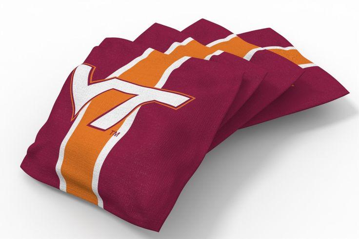 Virginia Tech Hokies Stripe Bean Bags-4pk (A)