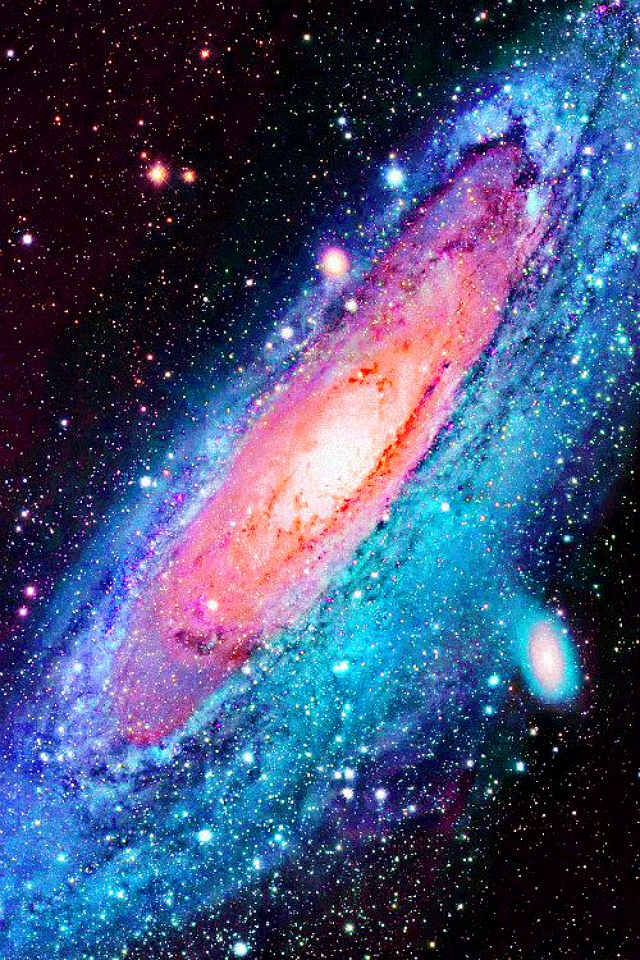 Andromeda Galaxy. So beautiful. I love how the colors get warmer as you get to the center