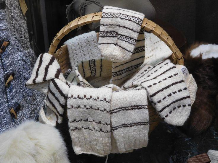Portuguese hand knitted wool socks.