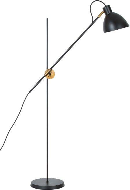 KH 1 Golvlampa Svart/Råmässing   Folkhemmet