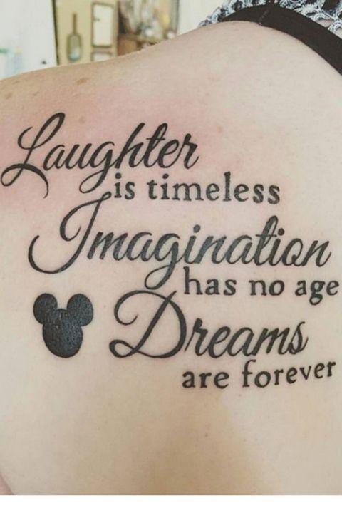 Disney quote tattoo by @Tattoosbyspot