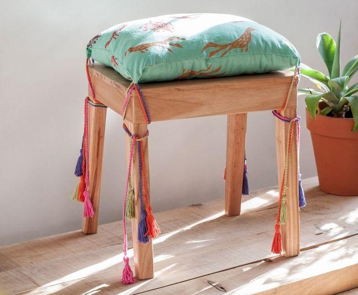 Almohadon para silla con cordones de colores para sujetar :)