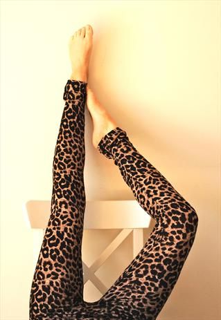 Leopard Leggings $18.12 - So cute with tall black boots.