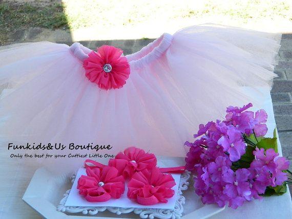 Pink Newborn Tutu Set Tutu for girl by FunkidsandUsBoutique, $28.00