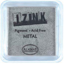Inkoustový polštářek IZINK / Metalický stříbrný