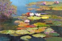 Water Pond Florals by Kent R. Wallis