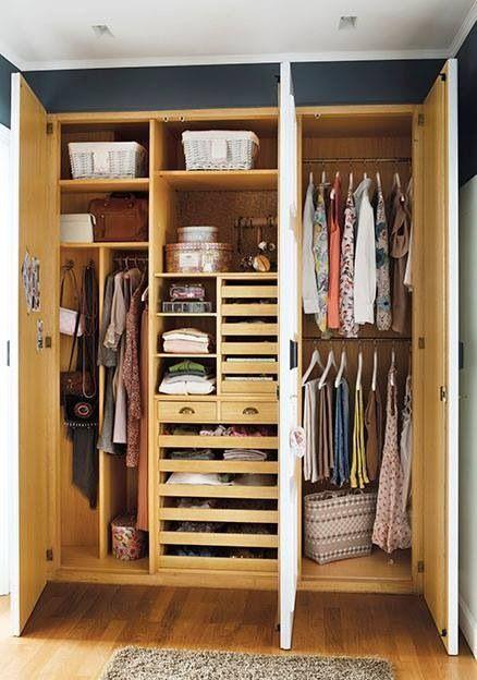 53 best deco dormitorios armarios images on pinterest for Closet para recamaras