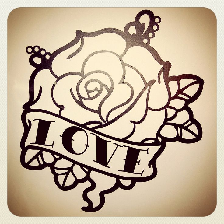 Old School Tattoo Rose Wall Decal. €34.00, via Etsy.