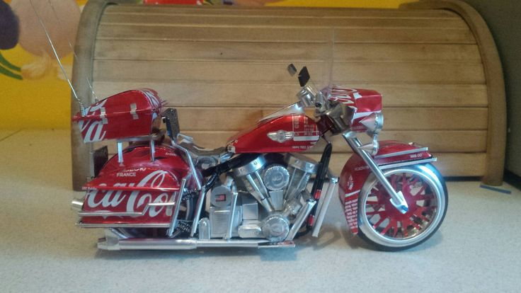 Harley davidson flh classic. .soft drink coca cola tincan  (by faisal rizal ) handmade