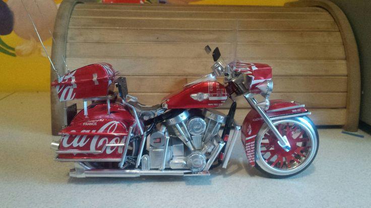 Harley davidson flh classic. .soft drink coca cola tincan  (by faisal rizal ) handmade