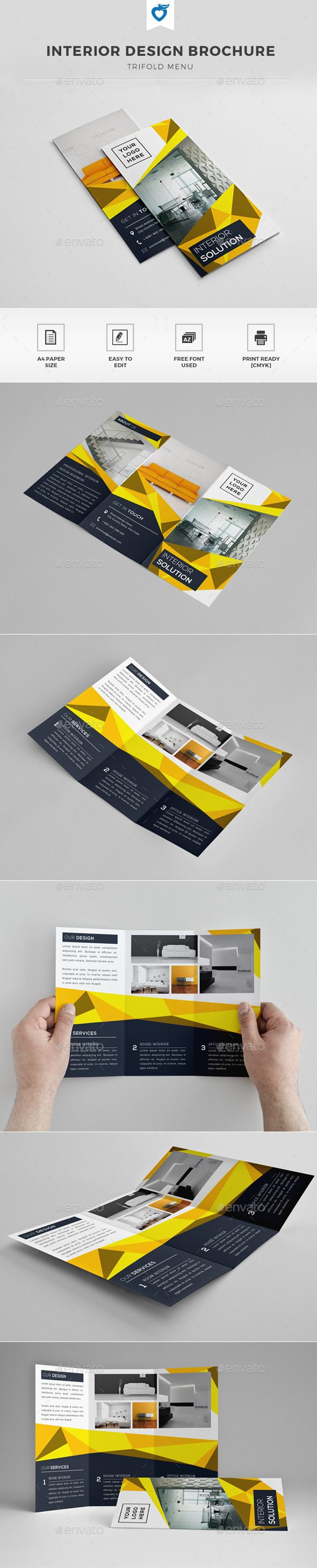 Interior Brochure — InDesign INDD #real estate #clean • Available here → https://graphicriver.net/item/interior-brochure/11940053?ref=pxcr