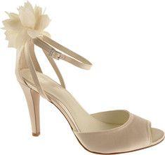 Calvin Klein Oliva Ivory Satin bridal shoes #weddings