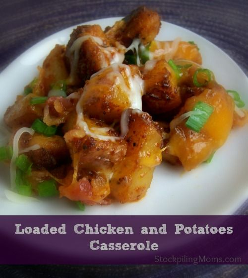 Loaded Chicken and Potatoes Casserole tastes AMAZING! My husband asked me for more before his serving was gone!