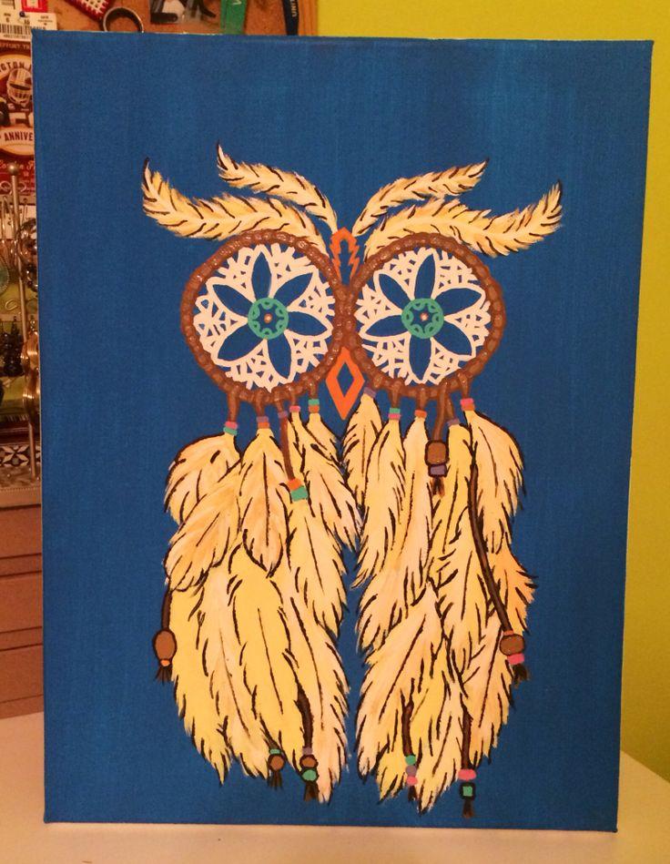 Owl Dream Catcher Painting Anime Mania