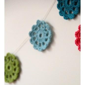 Crochet Garland (jolly brights)
