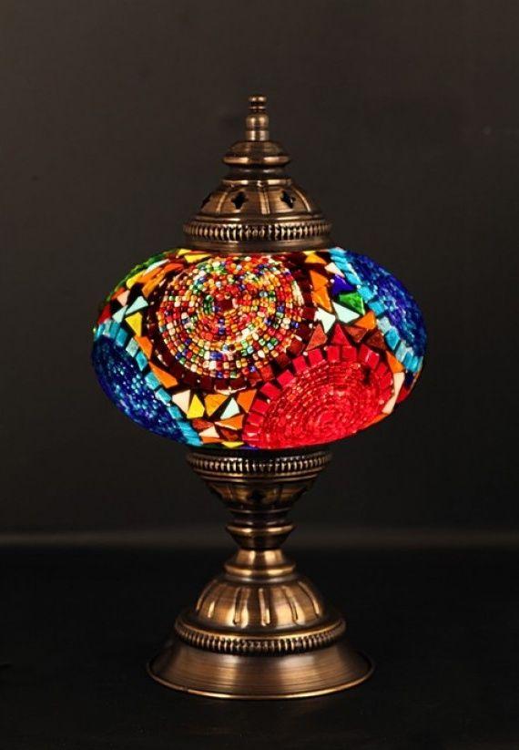 COLORFUL MOSAIC DESK LAMP
