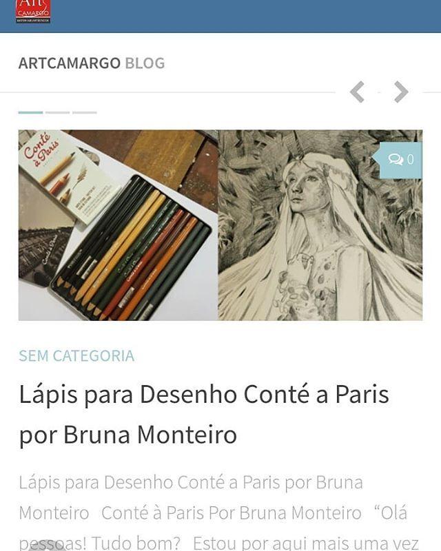 Tem post novo no Blog!!! #artcamargo #artrcamargoblog #artcamargolojavirtual #artcamargomateriaisartisticos  #artcamargomateriaisparaartes #artcamargotudoparasuaarte #lapisparadesenho #conteaparis #conteapariscrayon