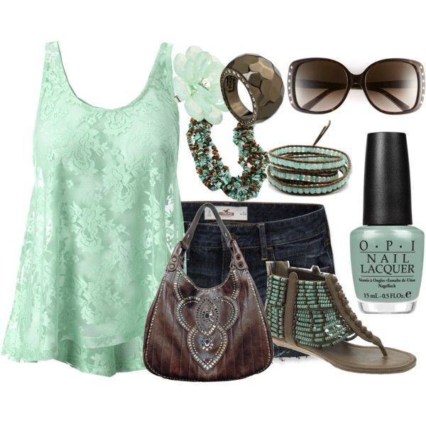 Mint and Brown, Polyvore: Shoes, Fashion Clothes Style, Summer Fashion, Than, Dreamcloset, Brown, Fashion Clothes Beauty, Wear