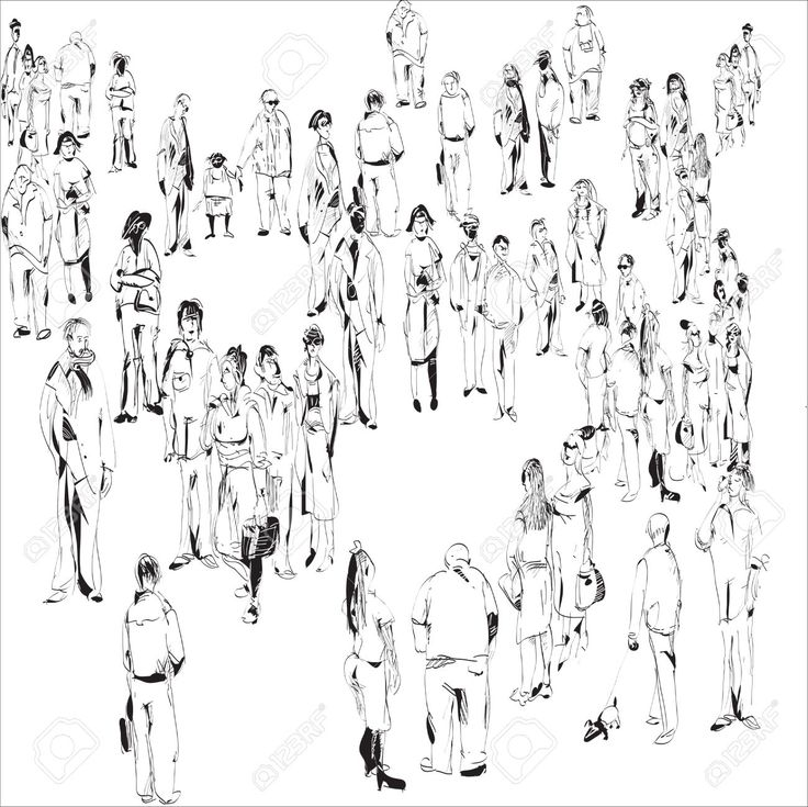 how to draw simple crowds