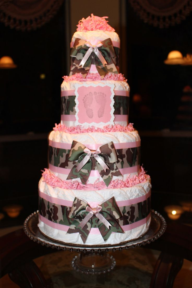 1000+ Ideas About Pink Diaper Cakes On Pinterest