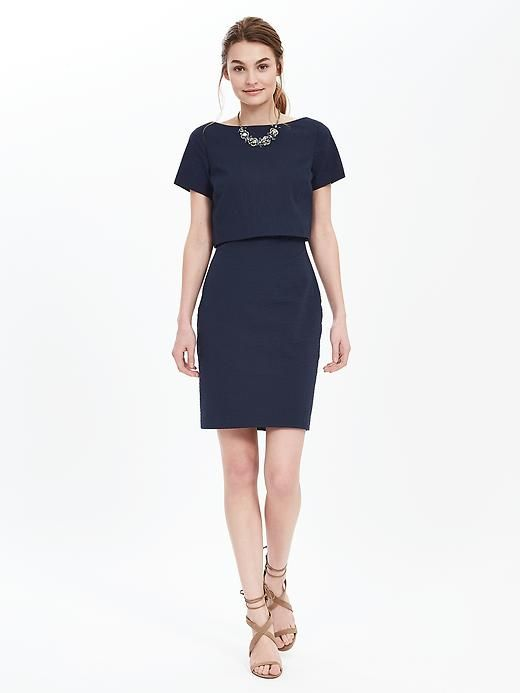 Seersucker Layered Dress