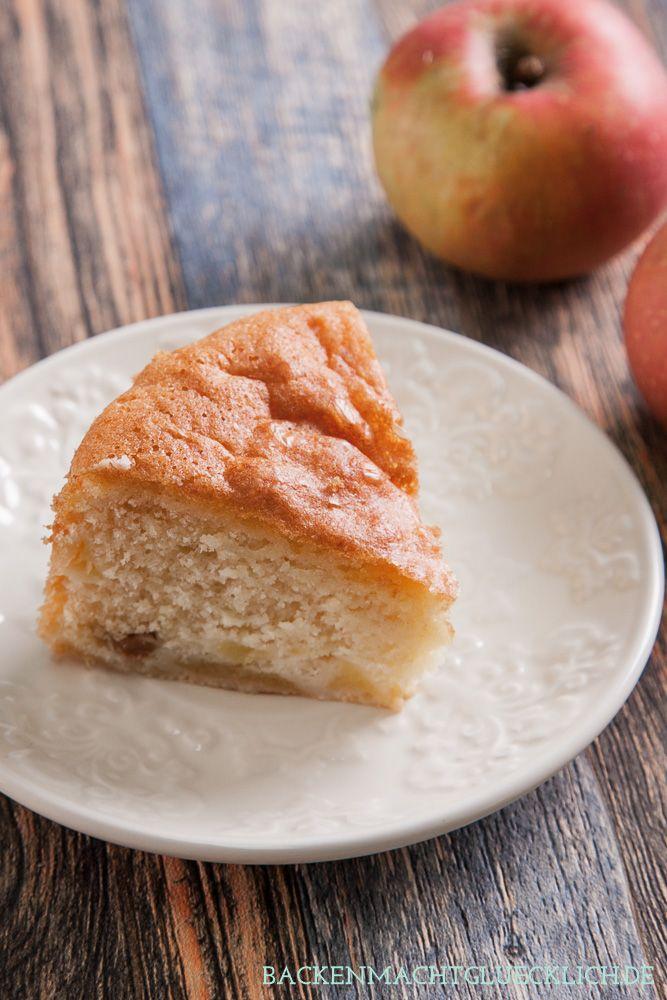 Glutenfreier Apfelkuchen ohne Mehl | http://www.backenmachtgluecklich.de