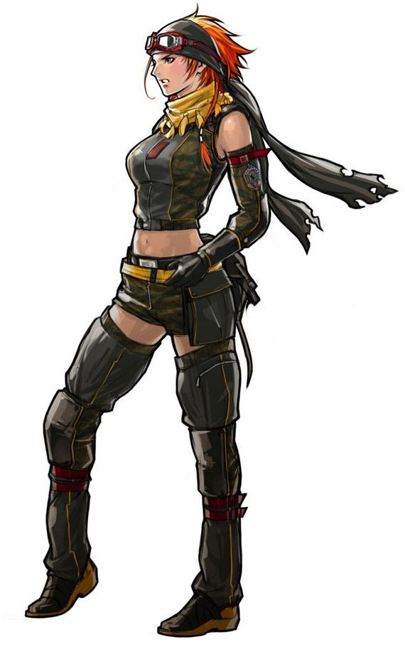 Tasha - Advance Wars: Days of Ruin; CO of the Lazurian Army. She is a firey CO and makes her only appearance to date in Advance Wars: Days of Ruin. She joined the Lazurian Army to avenge her brother John's death.