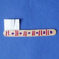 Brush Your Teeth, Please! Toothbrush craft idea