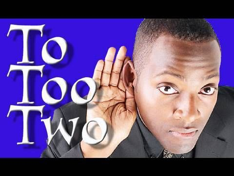 To Too Two | Learn English | Confusing Words- homophone video