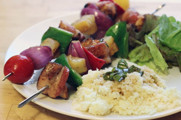 Bacon-Wrapped Chicken Shish-Kabobs. The perfect way to wind up the ...