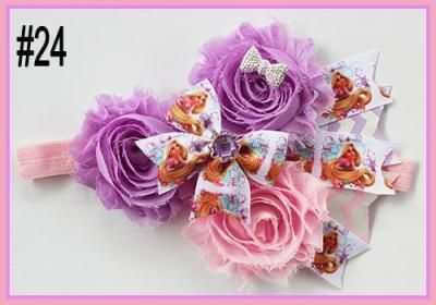Baby Multi Shabby Chic Flowers headbands