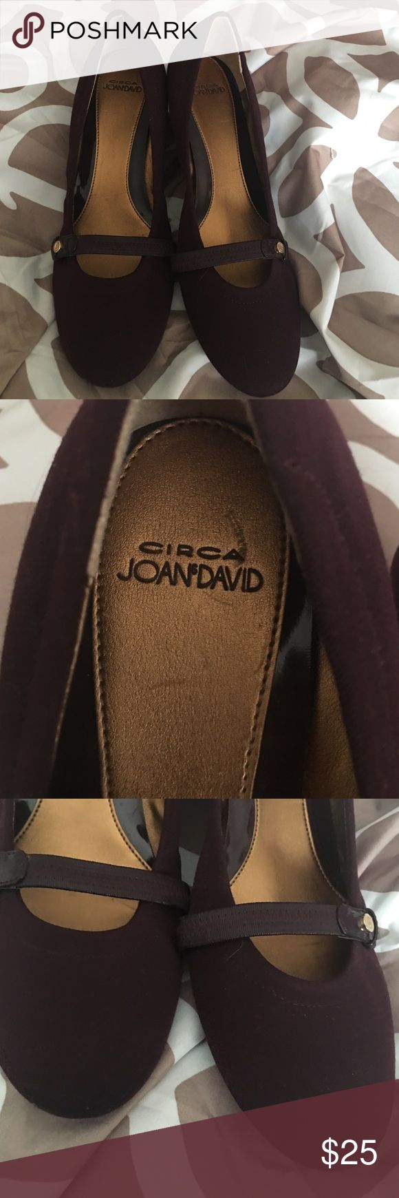 Circa Joan&david small lift of a heel maroon color Circa Joan&david maroon small lift heel attached as one piece to shoe size 8.5 never been worn Joan & David Shoes