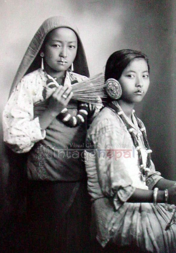 From Vintage Nepal. Hairdressing in the 1920s.