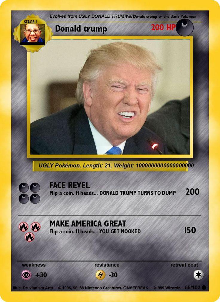 Pin on DONALD TRUMP POKEMON CARD