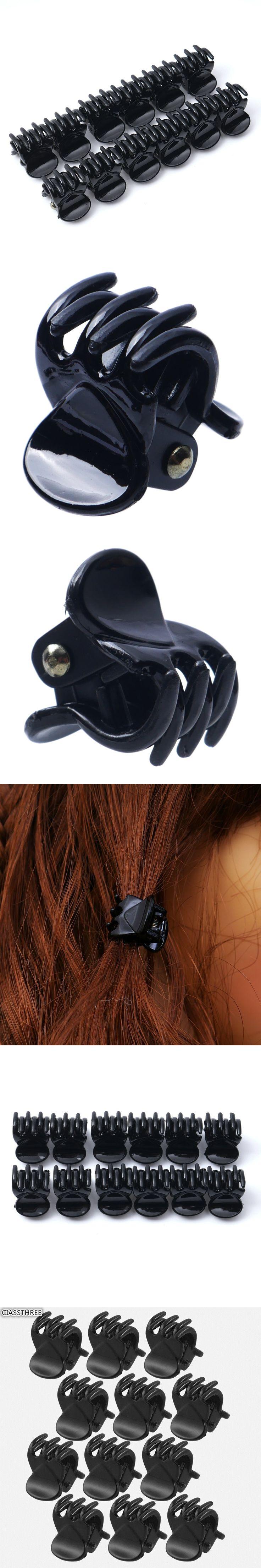 12 pcs/sets Fashion Popular Women crab Hair claw clip Girls Black Plastic Mini Hairpin Claws Hair Clip Clamp For Women Gifts