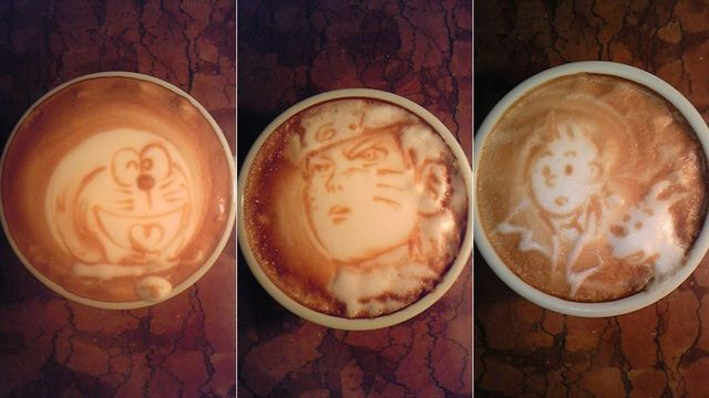Den här snubbens latte-konst går inte av för hackor. Tintin ftw liksom! This guy's geeky latte art will blow your mind. Tintin ftw!    (And yes, the coffee's probably cold by the time he's finished. Oh, the things we sacrifice in the name of art.)