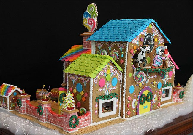 Wicked Goodies | Gingerbread Candy Factory by Lynne Schuyler | http://www.wickedgoodies.net