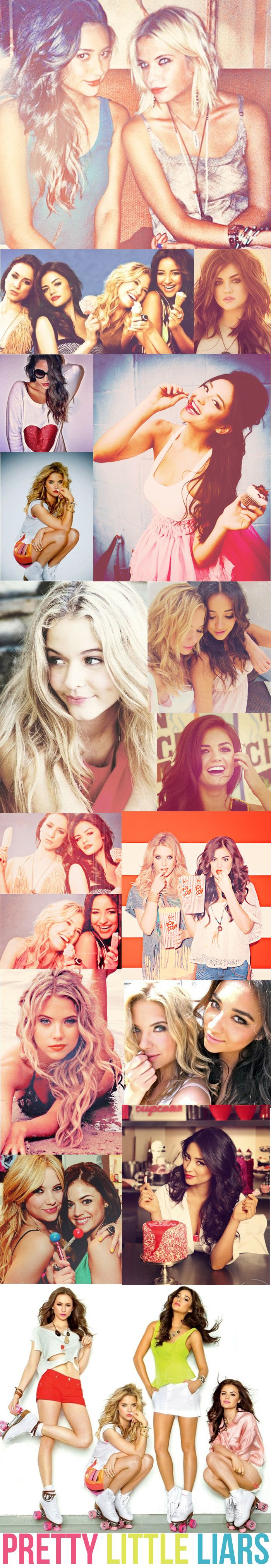 Ashley Benson (Hannah Marin), Lucy Hale ( Aria Montgomery), Shay Mitchell (Emily Fields), Troian Bellisario (Spencer Hastings) and Sasha Pieterse (Alison DiLaurentis) - Pretty Little Liars #PLL