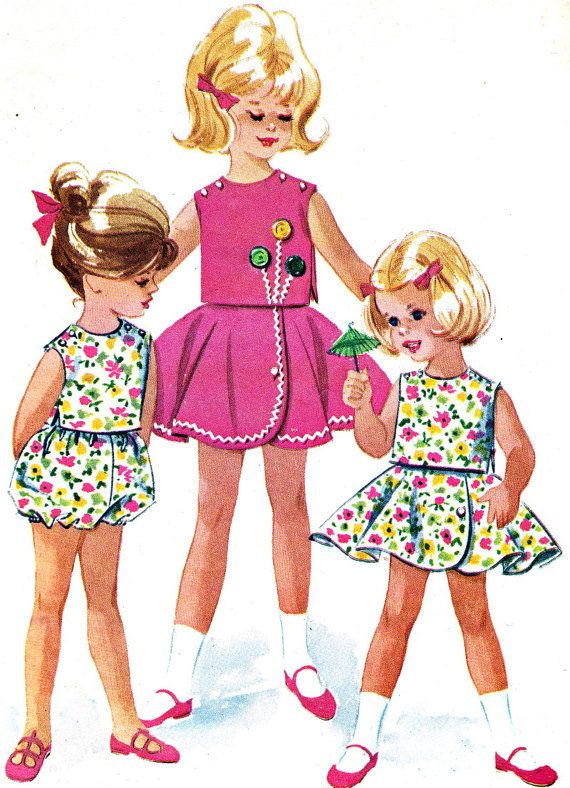 Vintage Sewing Pattern 1960s McCall's 6301 Toddler by paneenjerez, $7.00