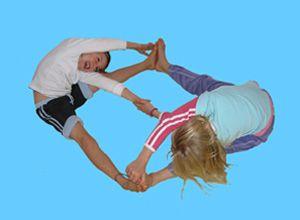 Yoga for Kids - Partner Crossover Pose