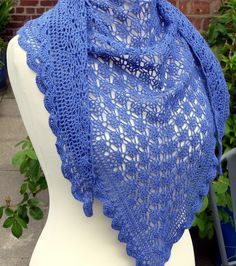 Mediterranean Lace Shawl By Esther Chandler - Free Crochet Pattern - (ravelry)