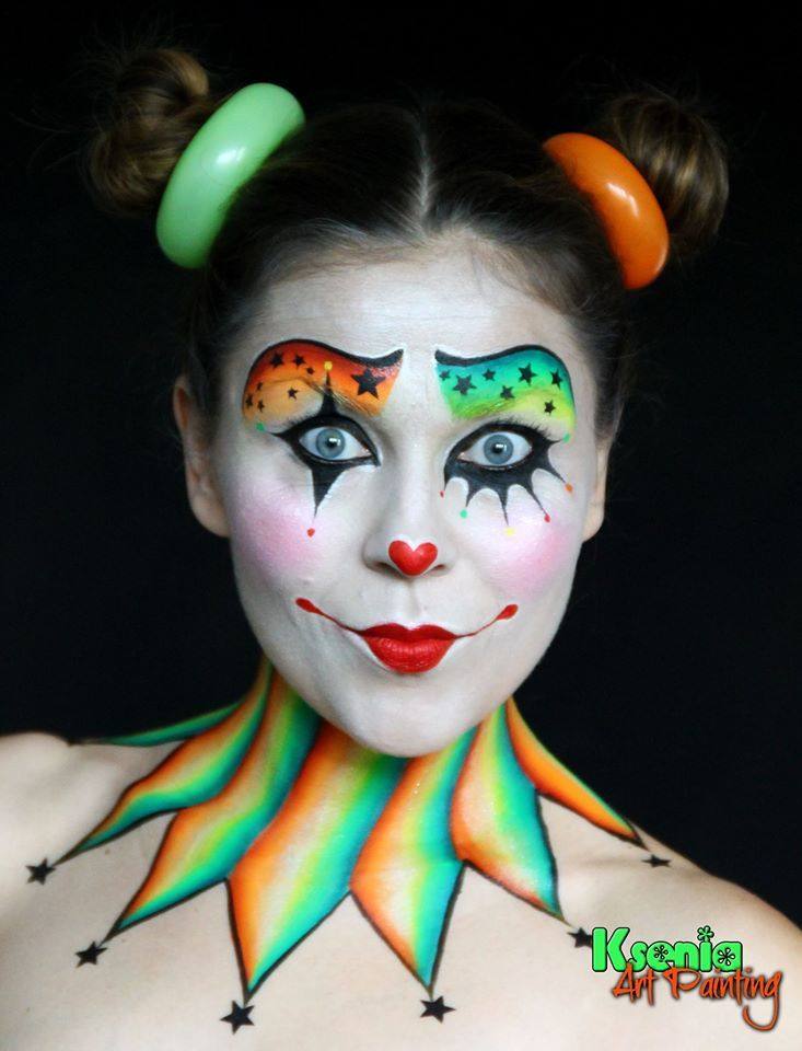 25 best ideas about clown faces on pinterest circus for Face painting clowns for birthday parties
