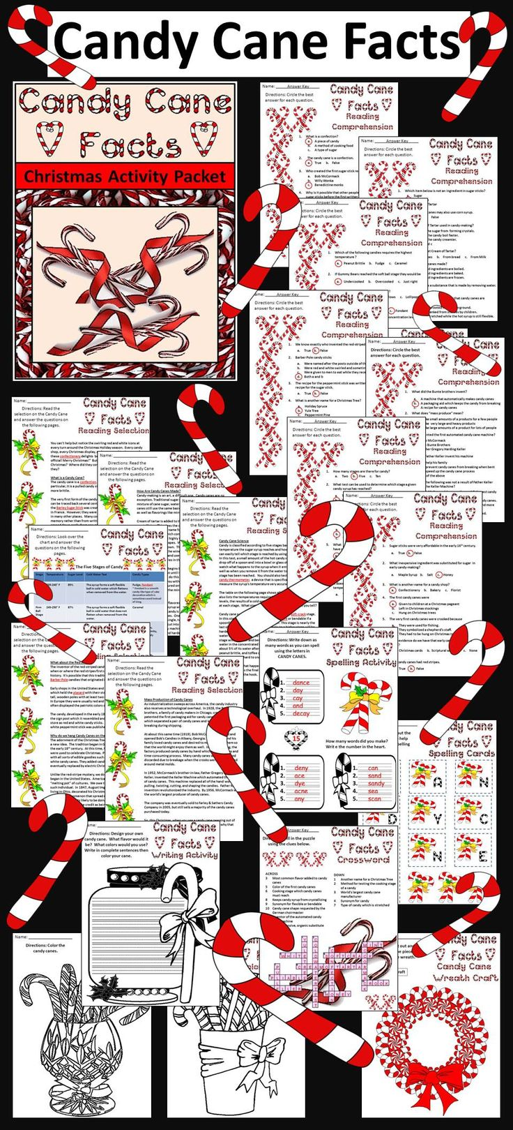 Christmas Activities Candy Cane Facts Christmas Activity