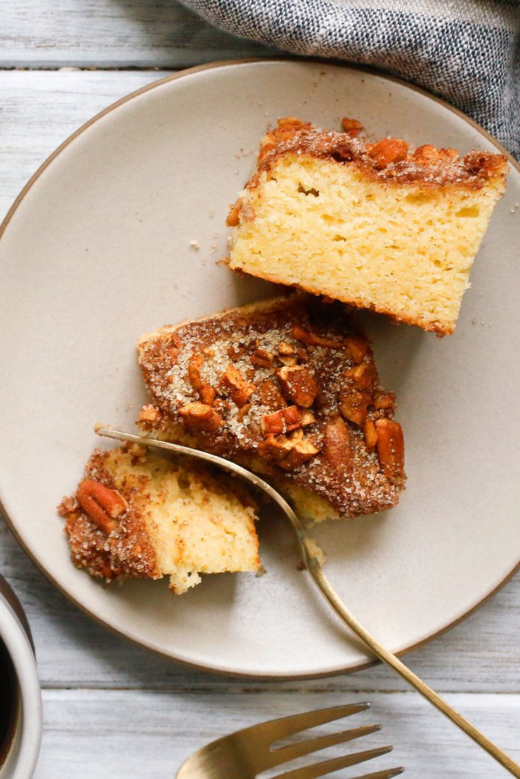Here's a simple sour cream coffee cake for when company comes to visit. (Photo: Craig Lee for The New York Times)