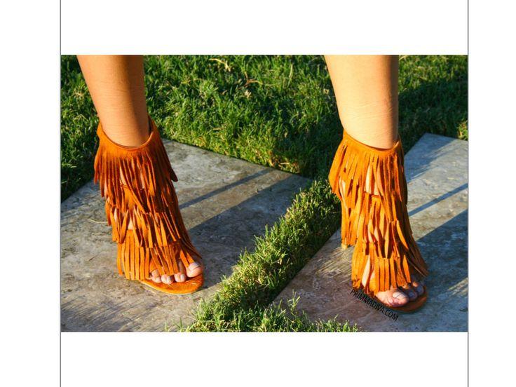 Whisky Tan Camel High Heels Tassel Fringe Stiletto Pumps Open Strappy Fashion BN | eBay