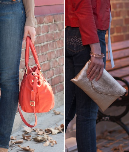 Bold bags are making headlines this fall. Hobo's and satchels offer great balance for day, and sporting one with a pop of color will give any outfit extra flair. Show off your favorite bold bag and brighten any day-time look in a snap.