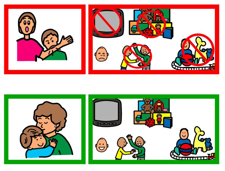Great visual cues for all sorts of behaviors.  Love this one the visualizes consequences for biting.